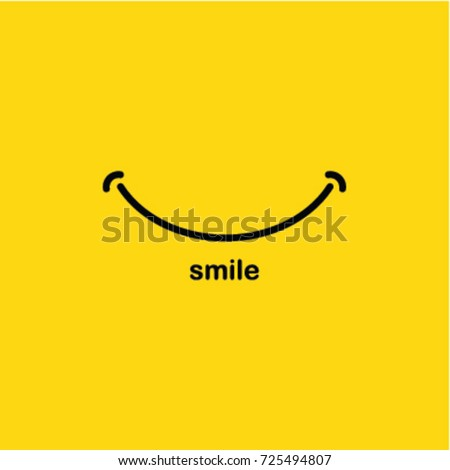 vetor stock de smile icon logo vector template design livre de