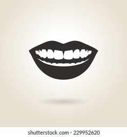 smile icon on light background