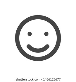 Smile Icon With Outline Style