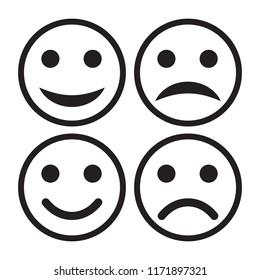 Smile icon set vector