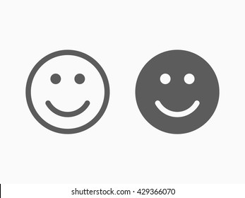 Smile Icon in trendy flat style isolated on grey background. Happy face symbol for your web site design, logo, app, UI. Vector illustration, EPS10.