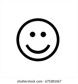 Smile icon in trendy flat style isolated on background. Smile icon page symbol for your web site design Smile icon logo, app, UI. Smile icon Vector illustration, EPS10.