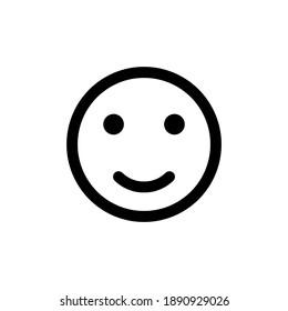 smile icon vector. smile emoticon icon. feedback