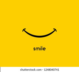 Smile icon vector graphic design symbol or logo.