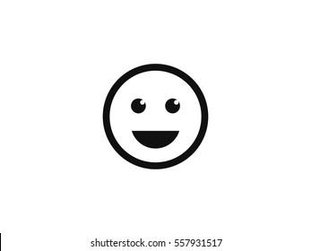 Smile icon vector illustration on white background
