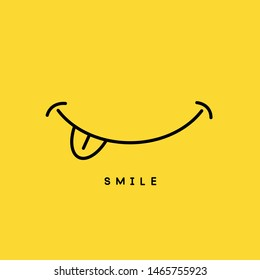 Smile icon vector template design. Happy background.