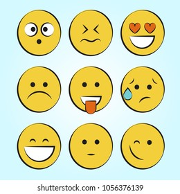 smile icons. emoji. emoticons