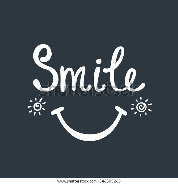 Smile Inspirational Quote About Happy Modern Stock Vector ...