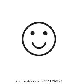 Smile / Laugh Emoticon Icon Vector - Vector