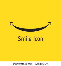 Smile logo template vector design. Smile icon. Eps 10 vector illustration.