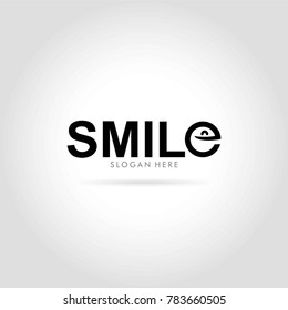 smile logo typography vector illustration