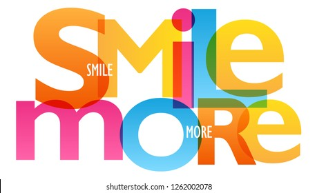 SMILE MORE colorful typography banner