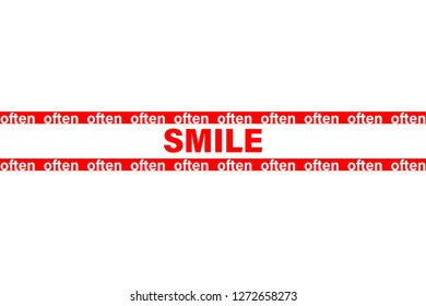 smile often slogan for t-shirt print and other uses