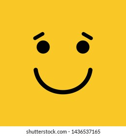 a smile on a yellow background, icon, logo vector