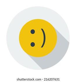 Smile. Single flat color icon. Vector illustration.