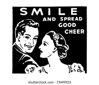 Smile - And Spread Good Cheer - Retro Ad Art Banner