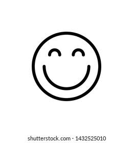 smile symbol, emoticon face line