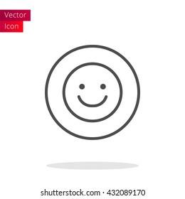 Smile Thin Line Icon