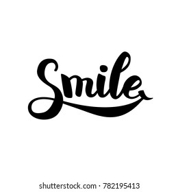 Smile typography logo