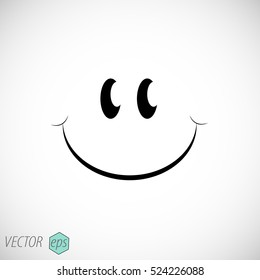 Smile vector icon