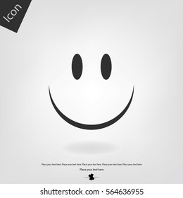 Smile vector icon. Happy sign