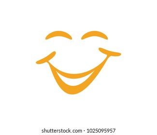 Smile vector icon illustration design