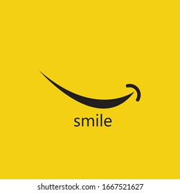 Smile vector image logo and symbol