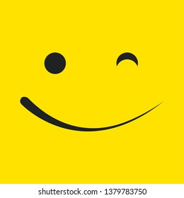 Smile Vector Template Design Illustration