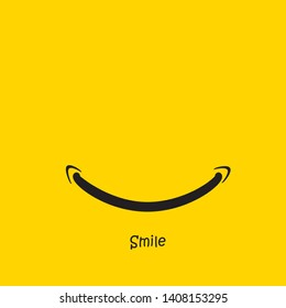 a smile with a yellow backgruound