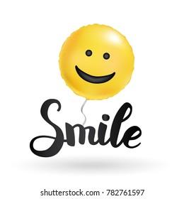 Smile yellow balloons