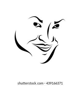Smiled face girl