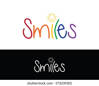 Smiles logo, with sun for kids