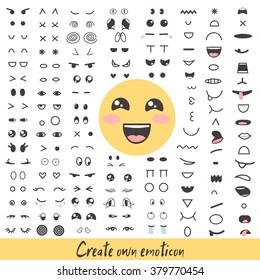 Smiley creator cute emoji faces