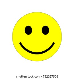 Smiley face vector icon.