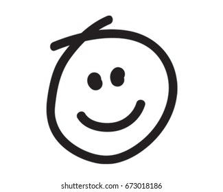 Smiley Face Vector Illustration. Happy Icon
