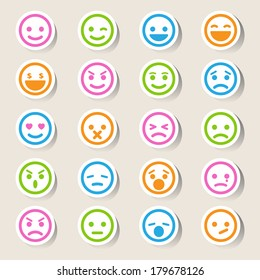 Smiley faces icons set.Illustration eps10