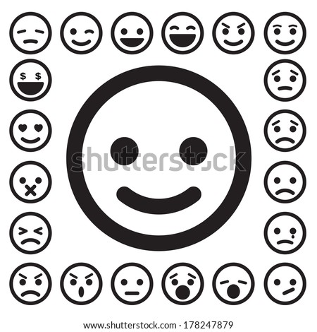 Smiley faces icons setIllustration