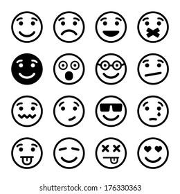 Smiley faces ns set