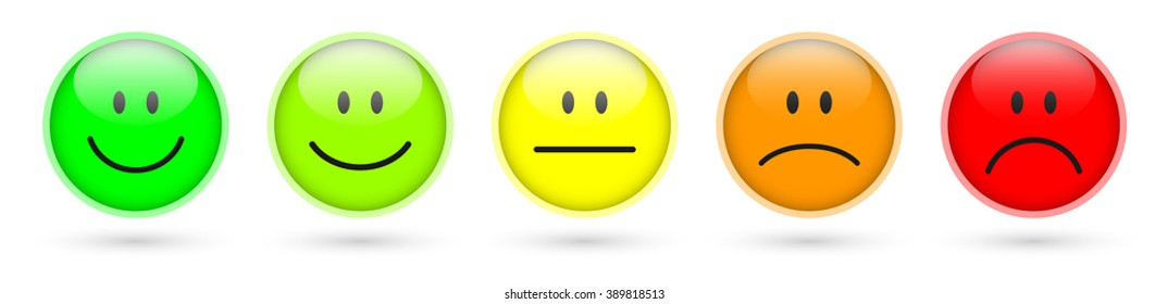 smiley faces rating icons