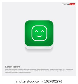 smiley icon, Face iconGreen Web Button