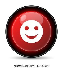 Smiley icon. Internet button on white background. EPS10 vector