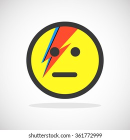Smiley Icon with Lightning Bolt Painting