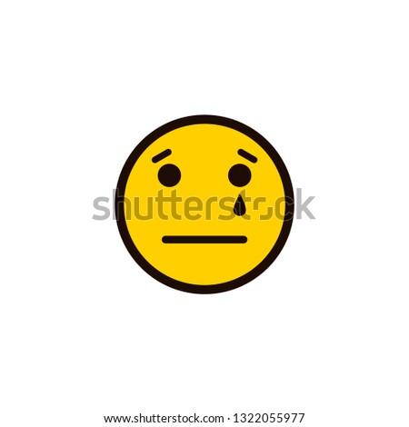 Smiley Icon Sad Smiley Face Upset Stock Vector Royalty Free
