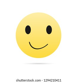 Smiley icon. Vector illustration of a smile.