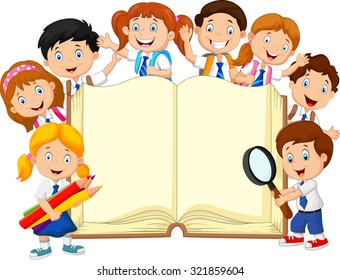 https://image.shutterstock.com/image-vector/smiley-little-kids-holding-book-260nw-321859604.jpg