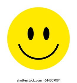 Smiley. Vector happy face