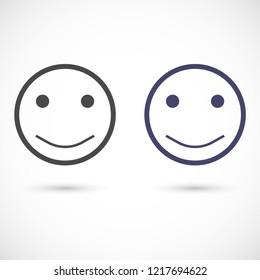 smiley vector icon 10 eps