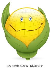 Smiley Vector Illustration - Corn Face