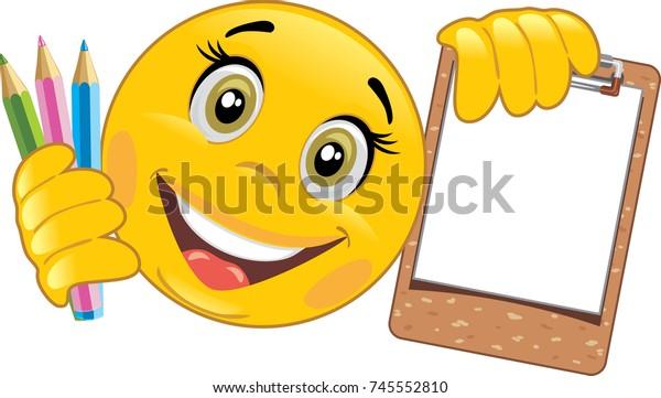 smiley-wooden-clipboard-colored-pencils-