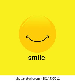 Smileys emoticons icon, Smile emotion vector template